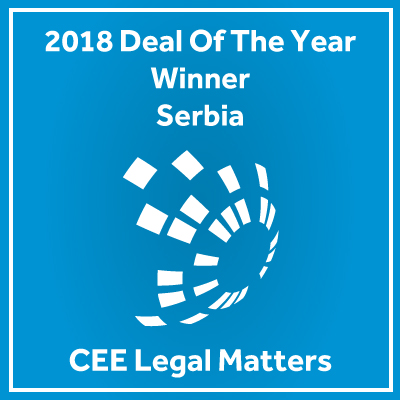 Živković Samardžić Wins the 2018 Deal of the Year Award for Serbia