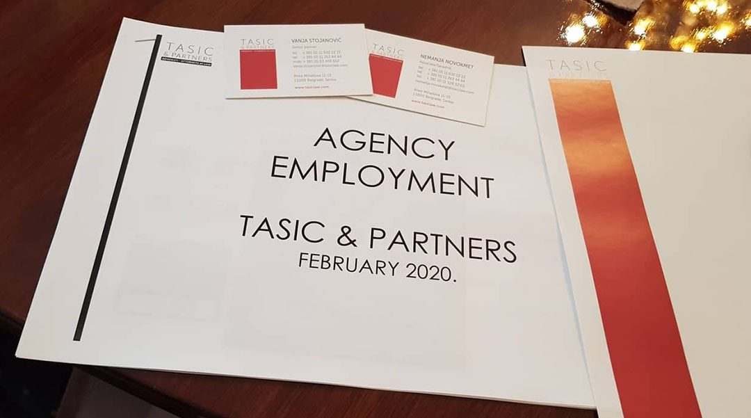 """Workshop """"Novelties brought by the Law on Agency Employment"""""""