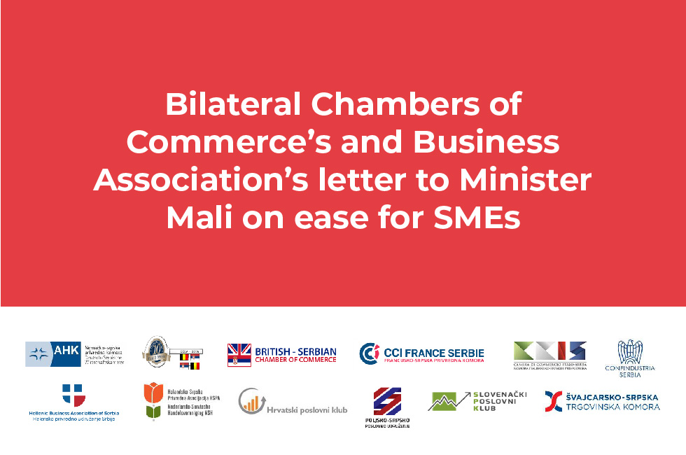 Bilateral Chambers of Commerce's and Business Association's letter to Minister Mali on ease for SMEs