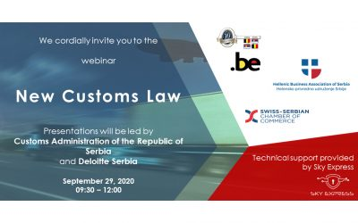 Announcement: Webinar with the Customs Administration