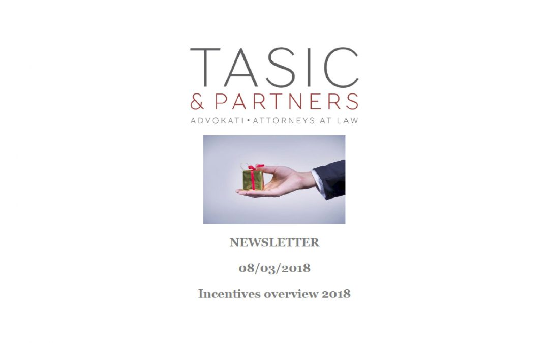 Newsletter – Incentives Overview 2018