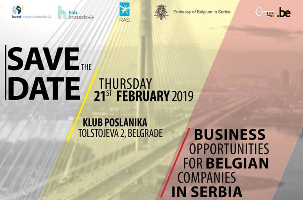 "Announcement: Presentation on ""Business Opportunities for Belgian Companies in Serbia"""