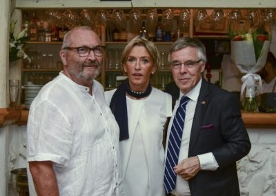 Farewell dinner party in honor Of H.E. Leo D'aes