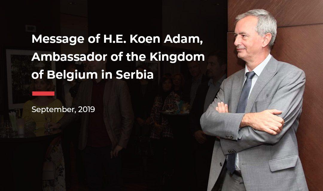 Message of H.E. Koen Adam